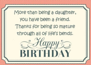 happy birthday greeting card for daughter with quotes