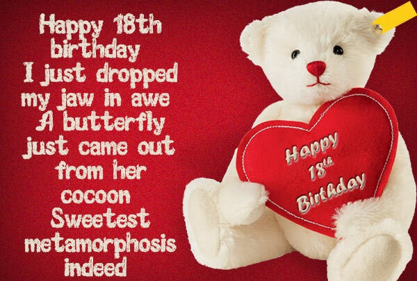 Happy Birthday Teddy Heart for Daughter