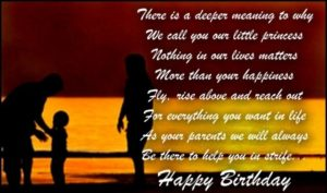 happy birthday wishes for daughter from parents quote love image