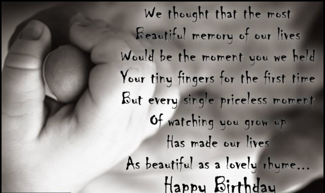 Happy Birthday Rhyme Wishes for Daughter