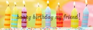 Happy Birthday Friend wishes with cake candle image