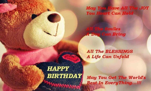 Happy Birthday Teddy for Friend