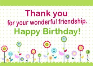 Happy Birthday Friend greeting card with flowers