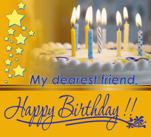 Happy Birthday Friend cake with name image, wallpaper HD