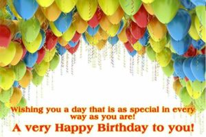 Happy Birthday balloon images with quotes for Friend