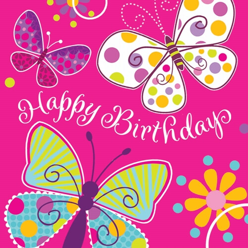 Happy Birthday Butterfly for Girlfriend