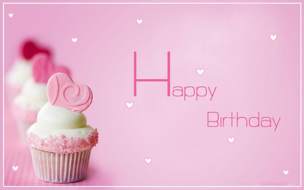 Happy Birthday Heart Muffin Wishes for Girlfriend