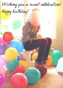 happy birthday girlfriend image, photo, wallpaper with balloon