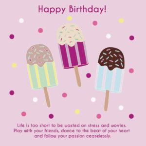 happy birthday images, photos for girlfriend icecream