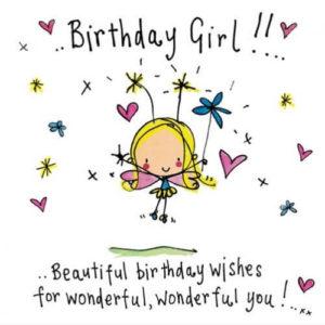 happy birthday girlfriend handmade greeting card