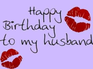 happy birthday husband love lips image
