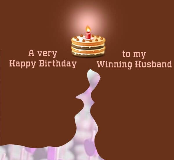 Happy Birthday Chocolate Wish for Husband