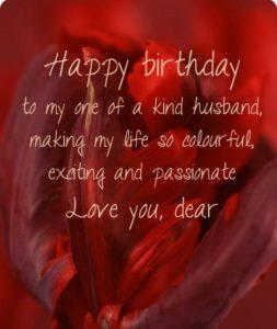 Happy Birthday Sayings Husband