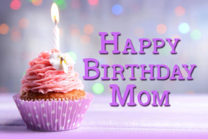 Happy Birthday Mom cake Image
