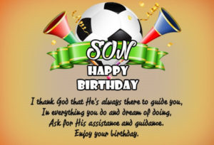 Happy Birthday Son Football