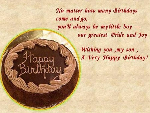 Happy Birthday Chocolate Wishes for Son