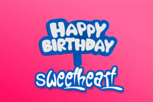 happy birthday sweetheart image, wallpaper, greeting card