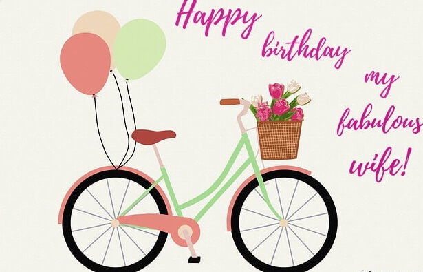 Happy Birthday Cycle for Wife