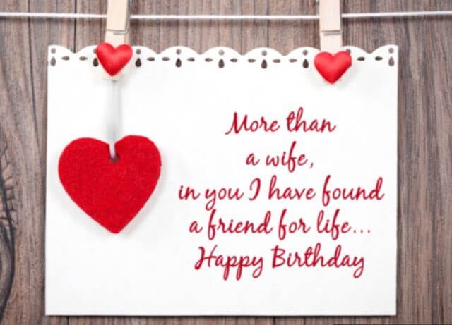 Happy Birthday Greetings for Wife