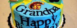 Happy Birthday Cake Wish Wonderful Grandfather