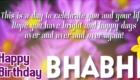 Happy Birthday Bhabhi Flower