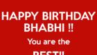 Happy Birthday Bhabhi Status