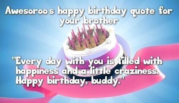Happy Birthday Brother Quotes Cakes