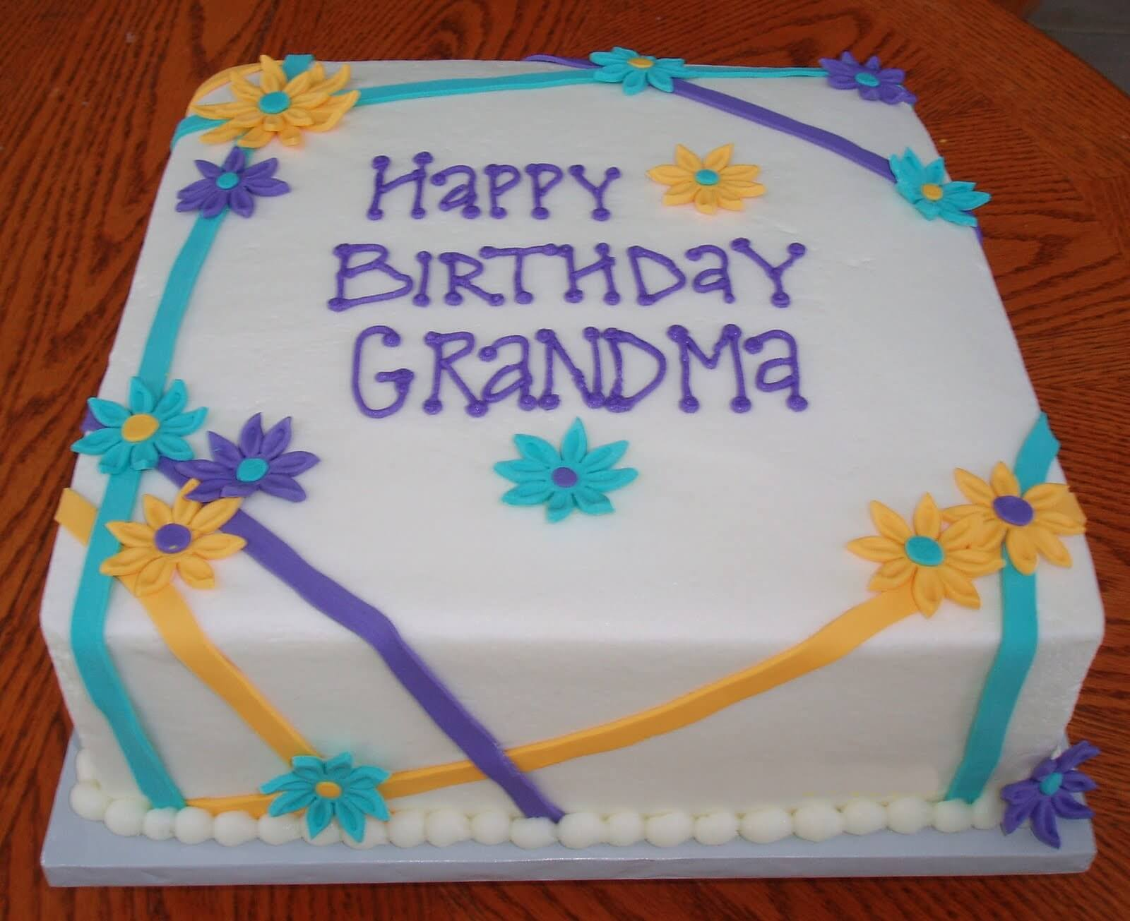 Happy Birthday Cake for Grandmother