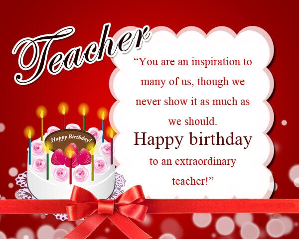 Happy Birthday Cake Image Wishes For Teacher