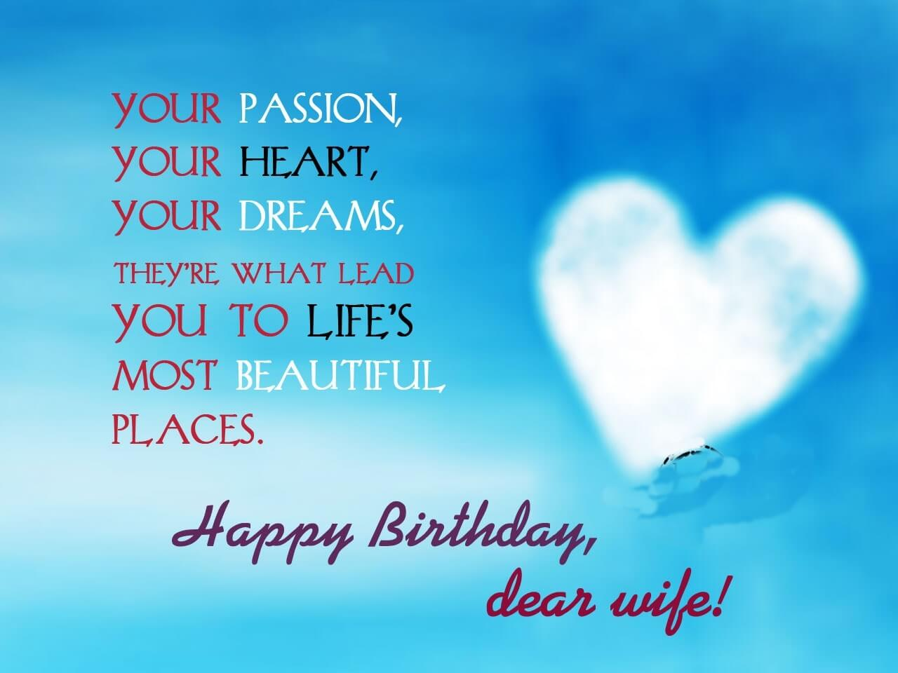 Happy Birthday Dear Wife WIshes