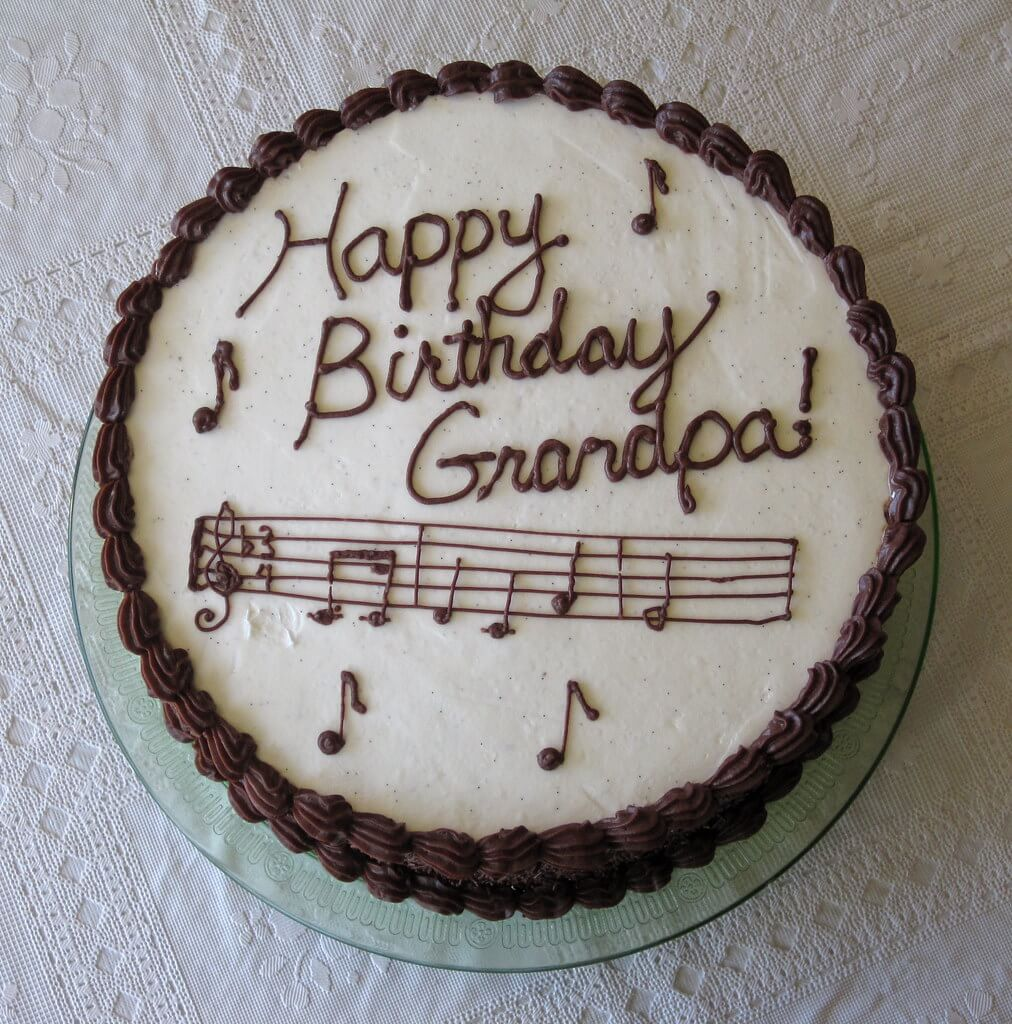 Happy Birthday Grandfather Cake Music