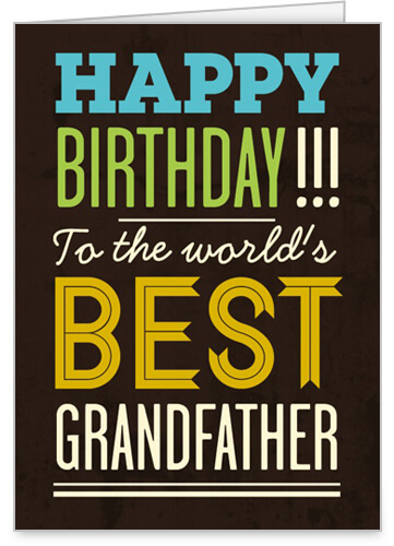 Happy Birthday Grandfather Greeting Card