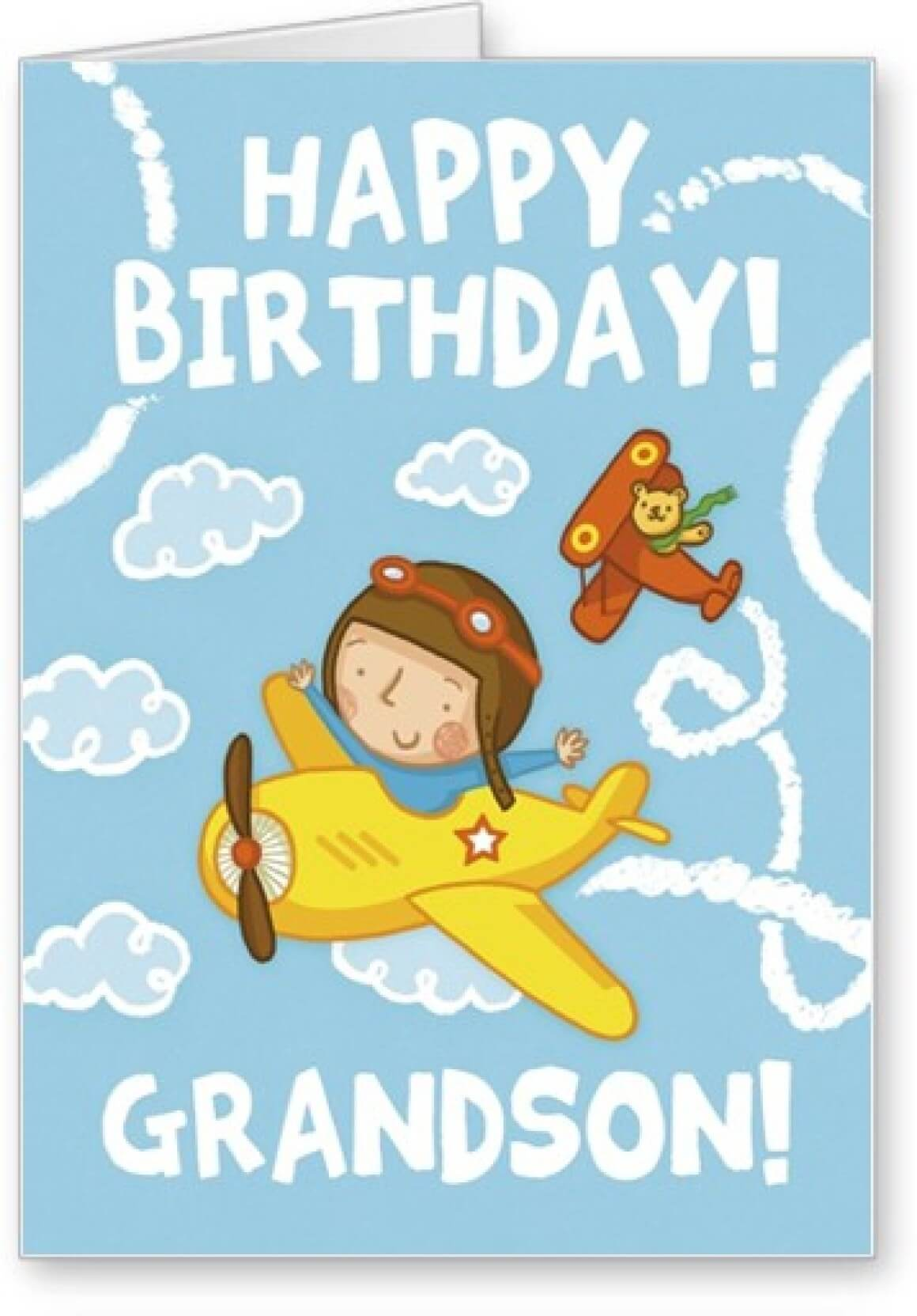 Happy Birthday Grandson Aeroplane Wishes