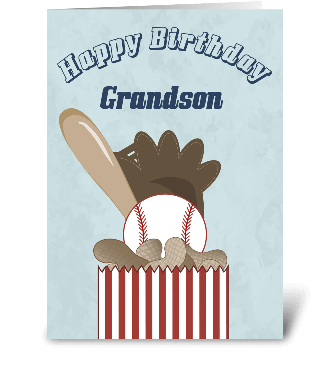 Happy Birthday Grandson Baseball
