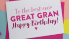 Happy Birthday Great Grandmother Ever