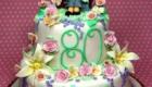 Happy Birthday Green Cake for Grandma