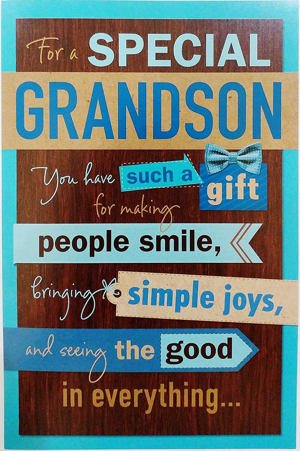 Happy Birthday Greeting Card For Grandson
