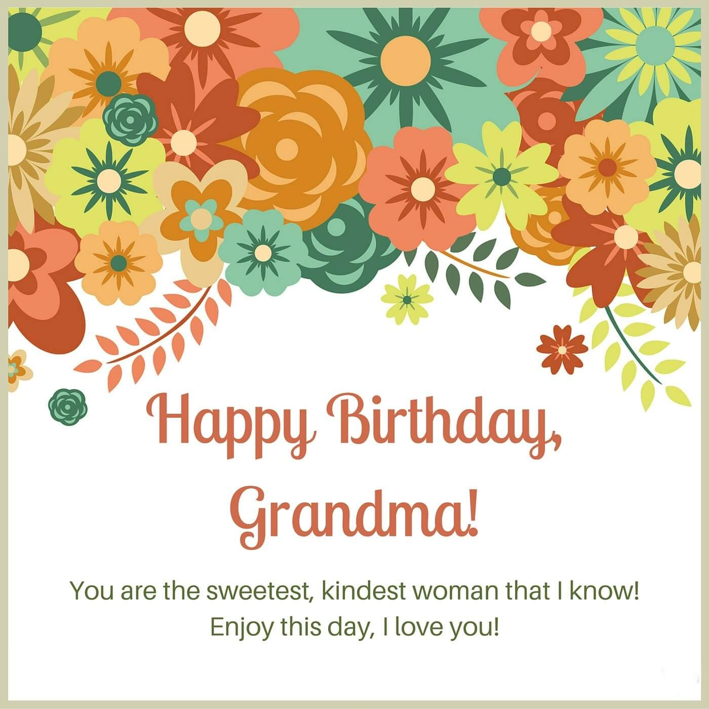 Happy Birthday Greetings for Grandmother