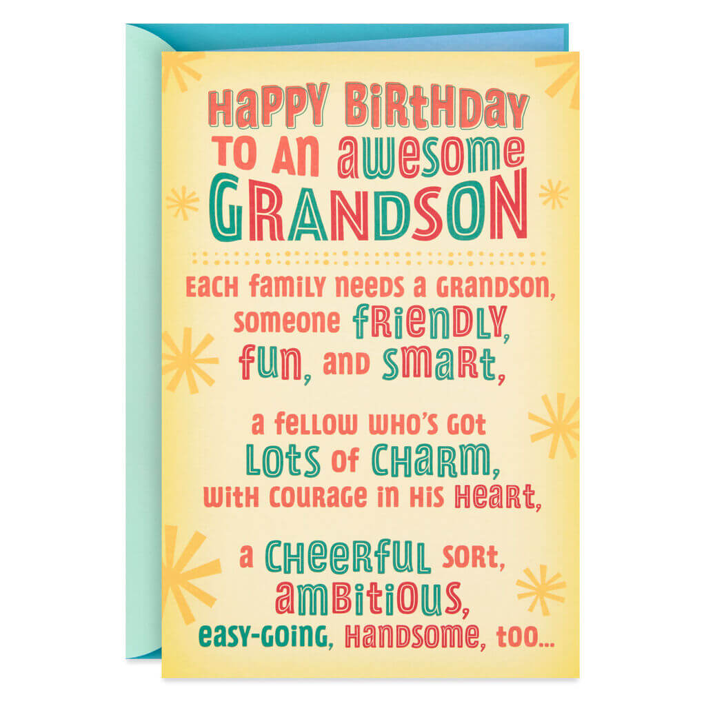 Happy Birthday Greetings To Grandson