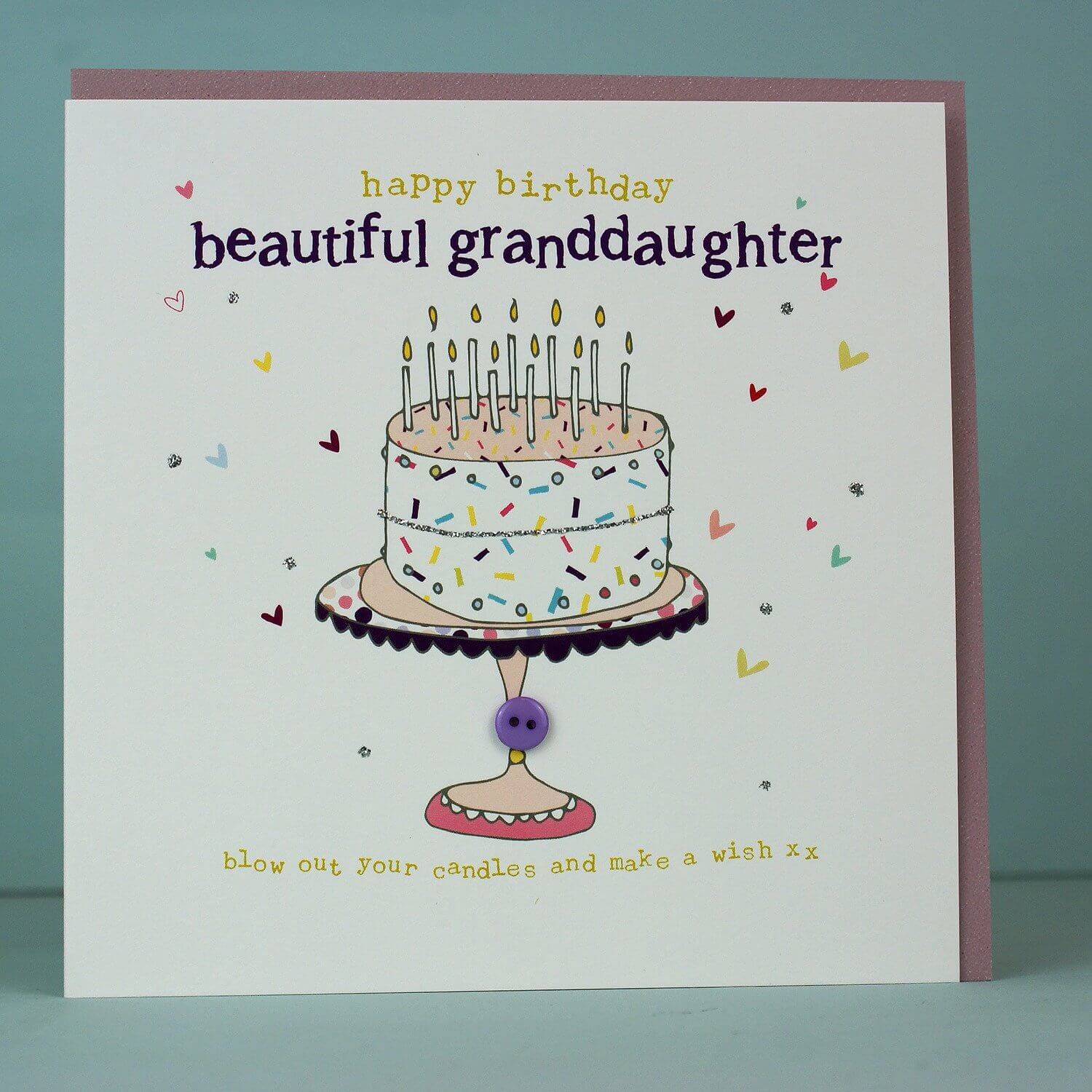 Happy Birthday Handmade Card for Granddaughter