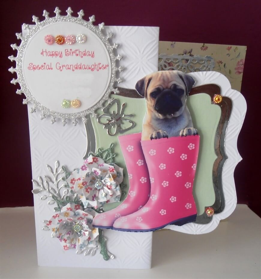 Happy Birthday Handmade Gift Card for Granddaughter