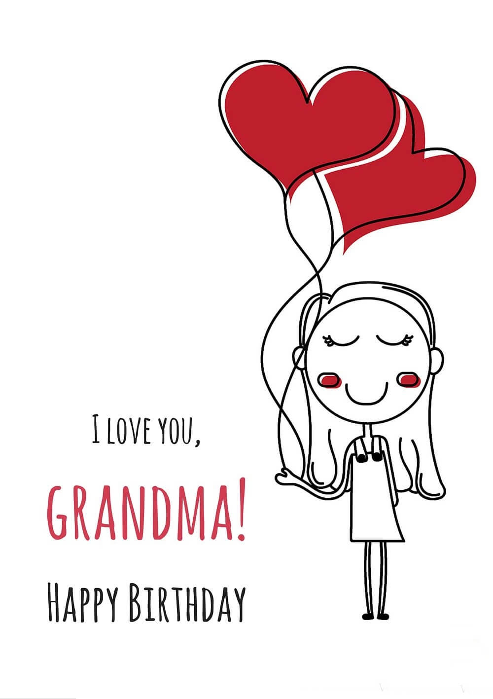 Happy Birthday Heart Wishes Grandmother