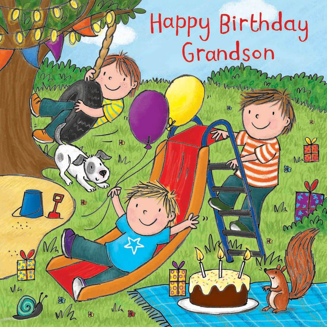 Happy Birthday Party for Grandson
