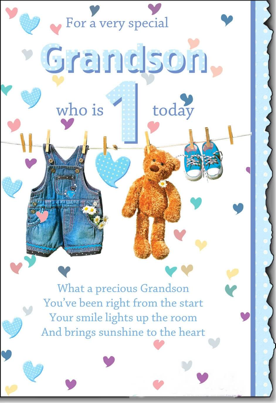 Happy Birthday Teddy Wishes for Grandson