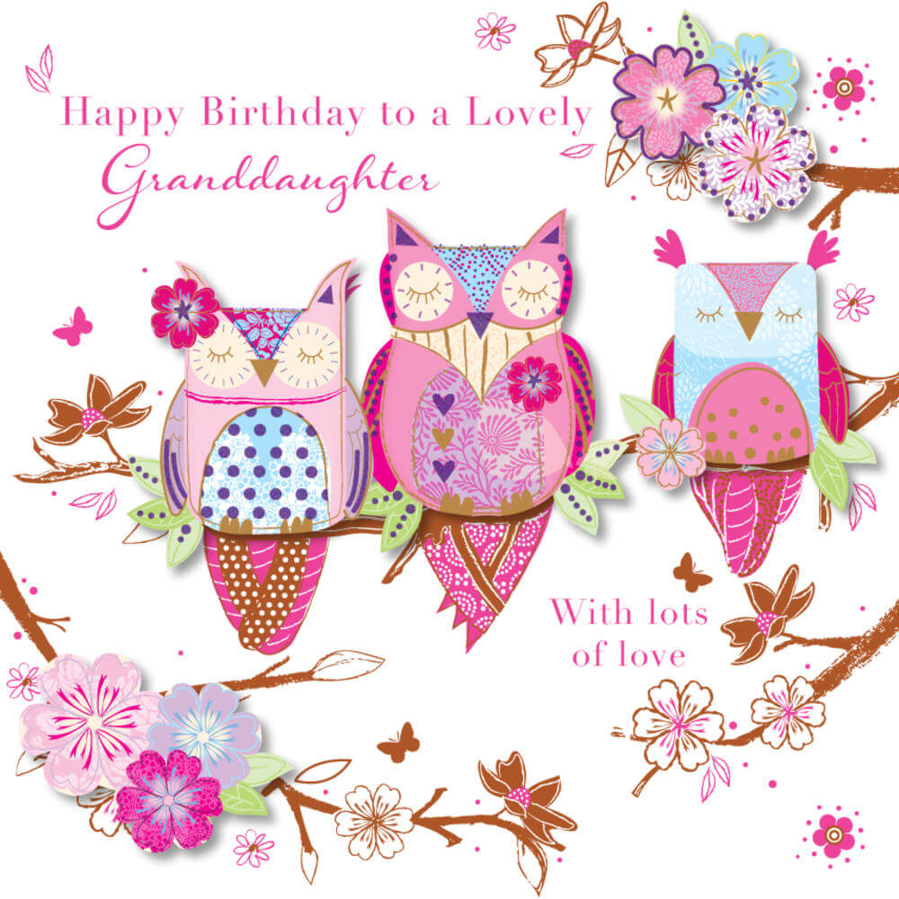 Happy Birthday Wish for Granddaughter Flowers