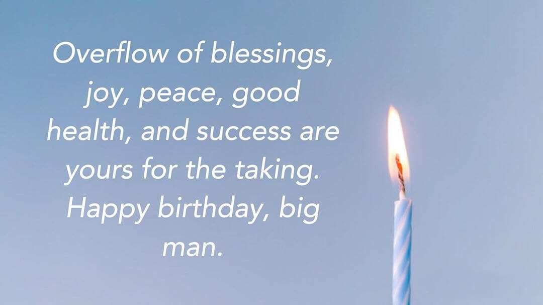 Happy Birthday Wishes for Brother Prayer