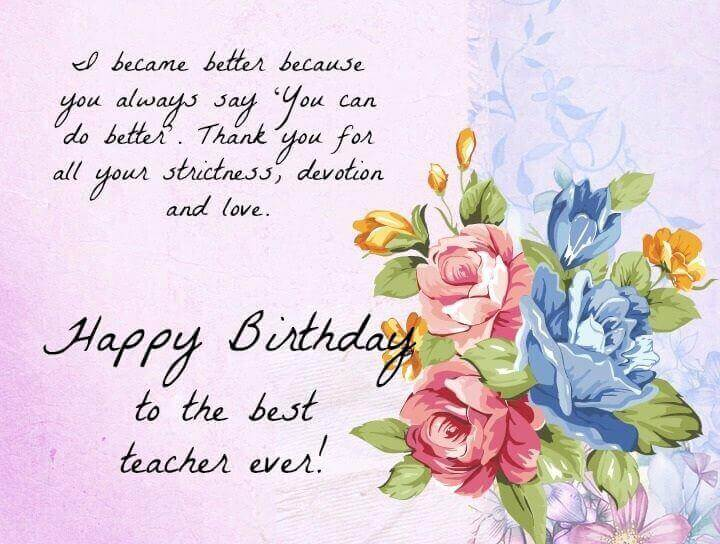 Happy Birthday Wishes for Teacher