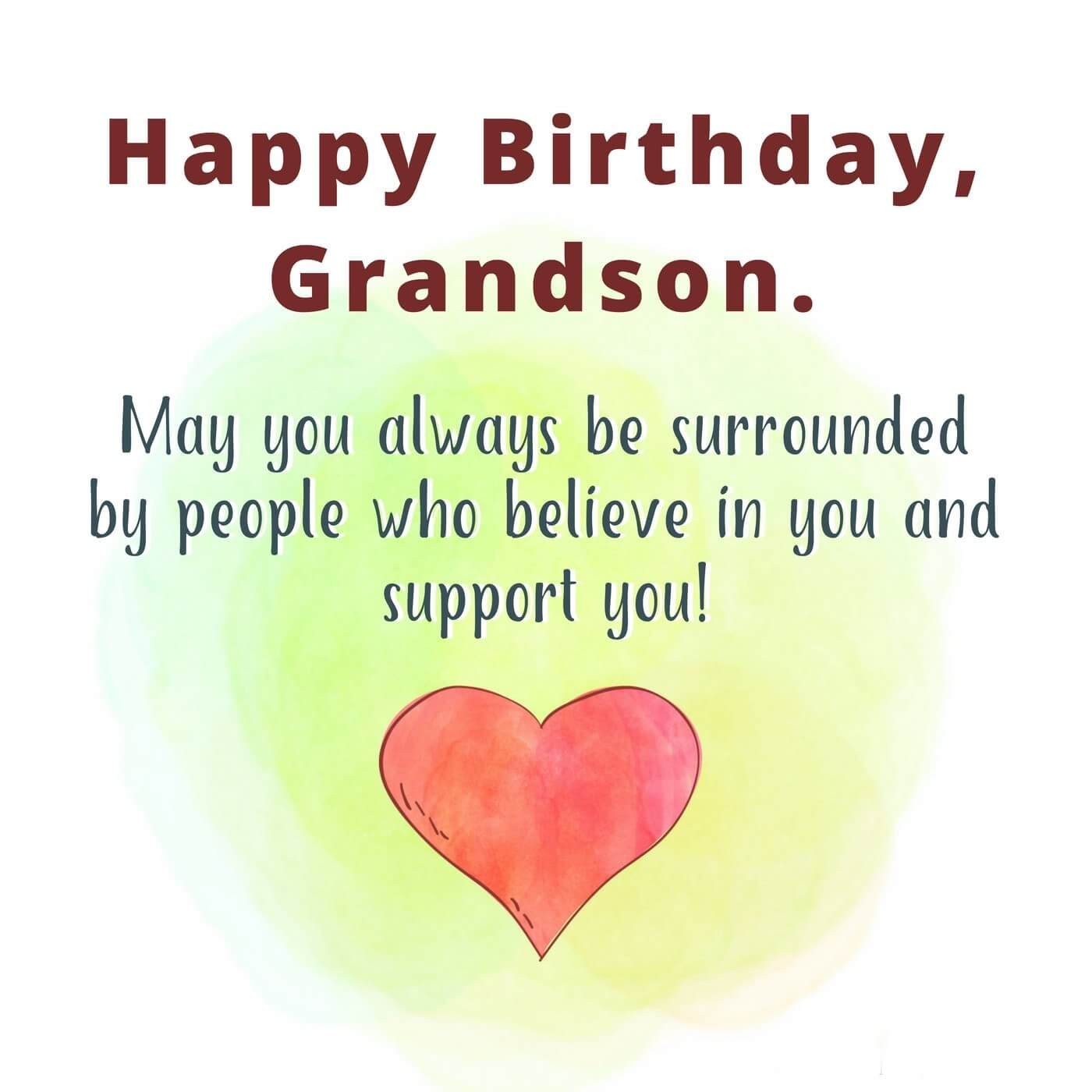 Happy Birthday Wishes Grandson