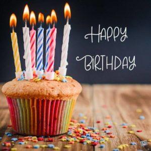 Happy Birthday Wishes Muffins