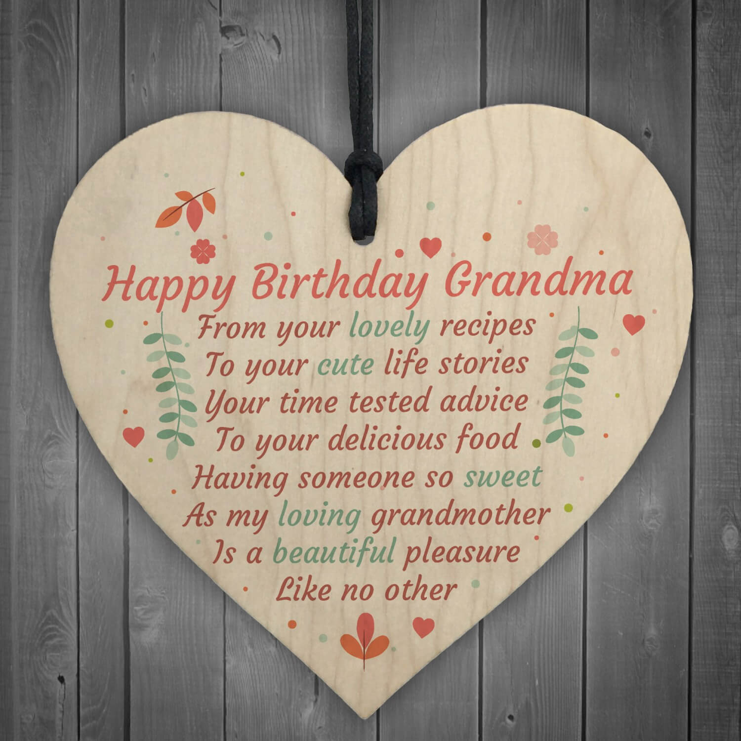 Happy Birthday Wishes on Heart Grandmother